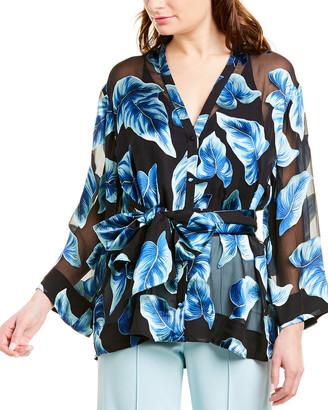 Alice + Olivia Rosario Silk-Blend Kimono