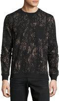 Wesc Branko Splatter-Print Sweatshirt, Black