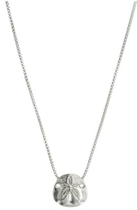 Alex and Ani 18 Sand Dollar Adjustable Necklace (Sterling Silver) Necklace