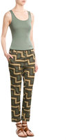 Closed Printed Cotton Cropped Pants
