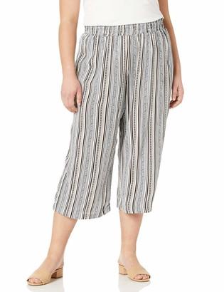 Amy Byer Women's Plus Size Wide Leg Crop Pull-On Pants