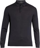 Ermenegildo Zegna Long-sleeved wool polo shirt