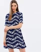 Warehouse Chain Print Flip Dress