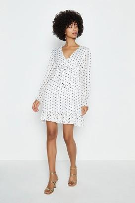 Coast V-Neck Spot Short Swing Dress