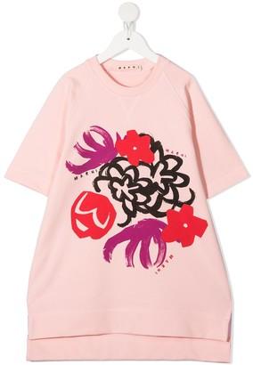 Marni floral print T-shirt dress