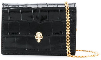 Alexander McQueen Leather Credit Card Holder On Chain