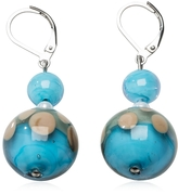 Antica Murrina Veneziana Papaya 1 Light Blue Murano Glass Earrings