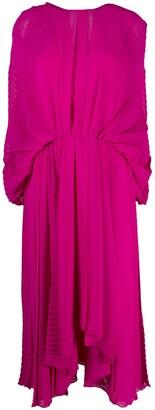 MSGM V-back asymmetric-hem dress