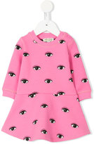Kenzo Eyes print dress - kids - Cotton/Polyamide/Spandex/Elastane - 6 mth