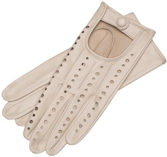 1861 Glove Manufactory Rimini - Women's Leather Driving Gloves In Creme Nappa Leather