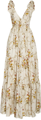 Brock Collection Tiered Floral-Print Cotton-Blend Maxi Dress