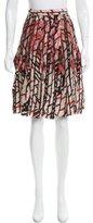 Bottega Veneta Printed Silk Skirt