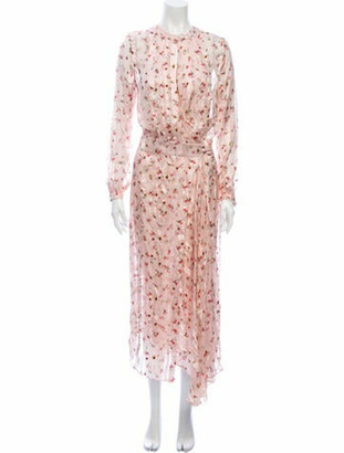 Preen by Thornton Bregazzi Printed Midi Length Dress w/ Tags Pink