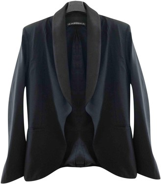 Les Prairies de Paris Black Silk Jacket for Women