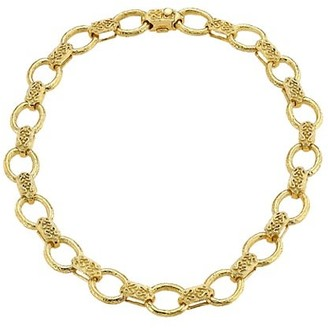 Katy Briscoe 18K Yellow Gold Embossed Link Collar Necklace