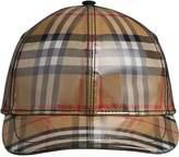 Burberry Laminated Vintage Check Baseball Cap