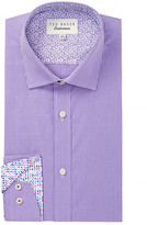 Ted Baker Baasing Check Print Trim Fit Dress Shirt