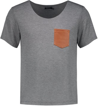 Eva D. T-Shirt With Leather Pocket
