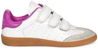 Isabel Marant Beth Grip-Tape Leather Sneakers