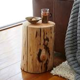 west elm Natural Tree Stump Side Table