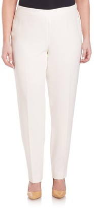 Lafayette 148 New York, Plus Size Finesse Crepe Bleecker Pants