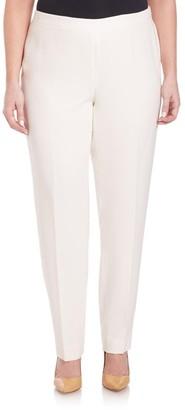 Lafayette 148 New York, Plus Size Finesse Crepe Bleecker Pants