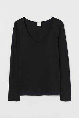 H&M Ribbed cotton top