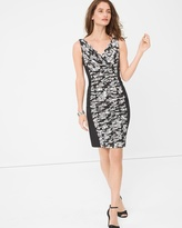 White House Black Market Printed Ruched-Detail Dress