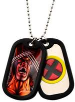 """Wolverine Men's Marvel® X MEN Double Stainless Steel Dog Tag and Rubber Silencers (22"""")"""