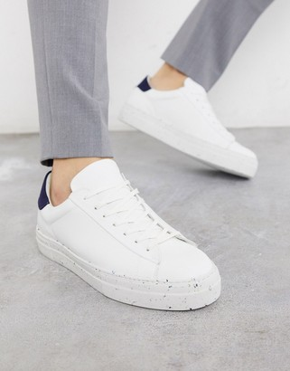 Jack and Jones eco-friendly sneakers with flecked sole in white