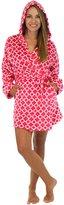 PajamaMania Hooded Fleece Short Robe (PMPFR1440-2014-CAN-MED)