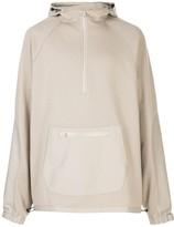 John Elliott half-zip front oversized hoodie