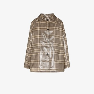 Kassl Editions Checked Patent Coat