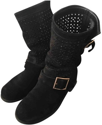 Jimmy Choo Black Suede Boots