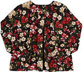 Dolce & Gabbana Floral Stretch-Cotton Poplin Blouse-BLACK, RED, NO COLOR