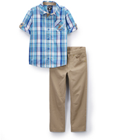 Beverly Hills Polo Club Blue Plaid Button-Up & Pants - Infant Toddler & Boys