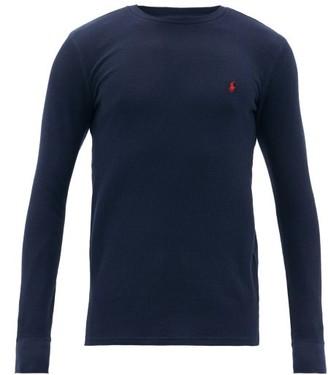 Polo Ralph Lauren Logo-embroidered Cotton-blend Long-sleeved T-shirt - Mens - Navy