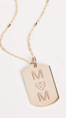 Chicco Zoe 14k Gold Small Dog Tag Engraved Necklace