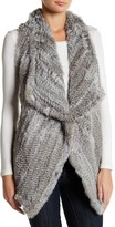 Bagatelle Knit Genuine Rabbit Fur Vest