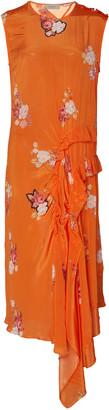 Preen Line Antoinette Floral-Print Crepe De Chine Midi Dress