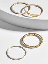 BaubleBar Quattro 18k Gold Plated Ring Set
