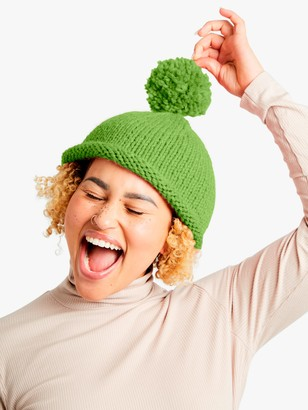 Wool And The Gang Reese Beanie Hat Knitting Kit, Lime