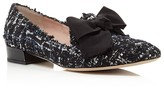 Kate Spade Gino Tweed Bow Loafers