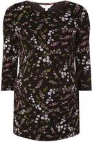 Dorothy Perkins **Maternity Black Floral 3/4 Sleeve T-Shirt