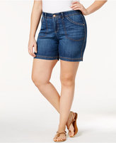 Lee Platinum Plus Size Total Freedom Matteo Pacifica Wash Denim Shorts