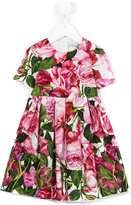 Dolce & Gabbana floral patterned dress - kids - Cotton - 36 mth