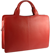 Visconti Red Structured Leather Briefcase