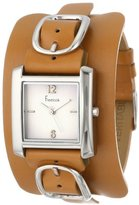 Freelook Women's HA1573-3B Square Leather Band Watch