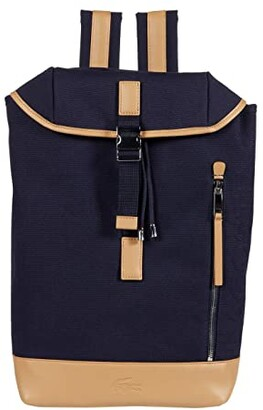 Lacoste Summer Backpack (Navy Blue/Pluvier Chine/Lighthouse Red) Backpack Bags