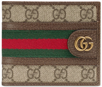 Gucci GG Wallet In Beige Ebony & Green & Red in Beige Ebony & Green & Red | FWRD